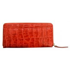 Кошелёк Cross Bebe Coco, кожа наппа фактурная, цвет красный/бежевый, 18.8 х 10.2 х 1.5 см