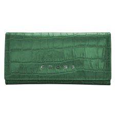 Кошелёк Cross Bebe Coco, кожа наппа фактурная, цвет зелёный/рыжий, 19.5 х 10.2 х 2.5 см AC578288-4