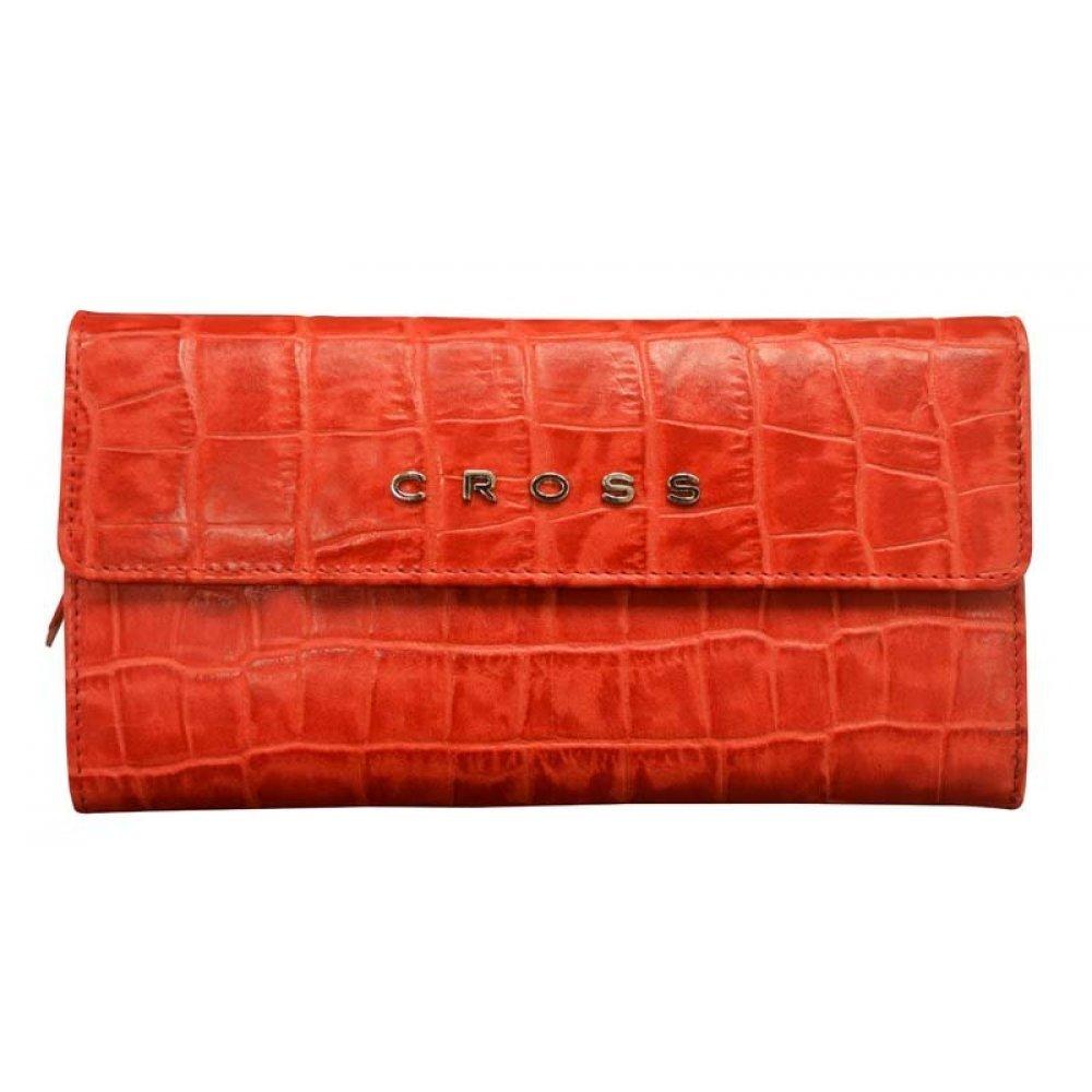 Кошелёк Cross Bebe Coco, кожа наппа фактурная, цвет красный/бежевый, 19.5 х 10.5 х 3 см AC578302-3