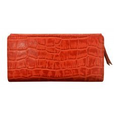 Кошелёк Cross Bebe Coco, кожа наппа фактурная, цвет красный/бежевый, 19.5 х 10.5 х 3 см