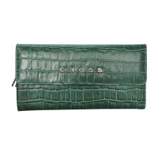 Кошелёк Cross Bebe Coco, кожа наппа фактурная, цвет зелёный/рыжий, 19.5 х 10.5 х 3 см AC578302-4