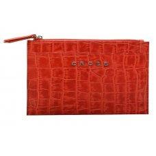 Клатч мини Cross Bebe Coco, кожа наппа фактурная, цвет красный/бежевый, 21 х 15 х 1 см AC578375-3*