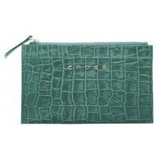 Клатч мини Cross Bebe Coco, кожа наппа фактурная, цвет зелёный/рыжий, 21 х 15 х 1 см AC578375-4