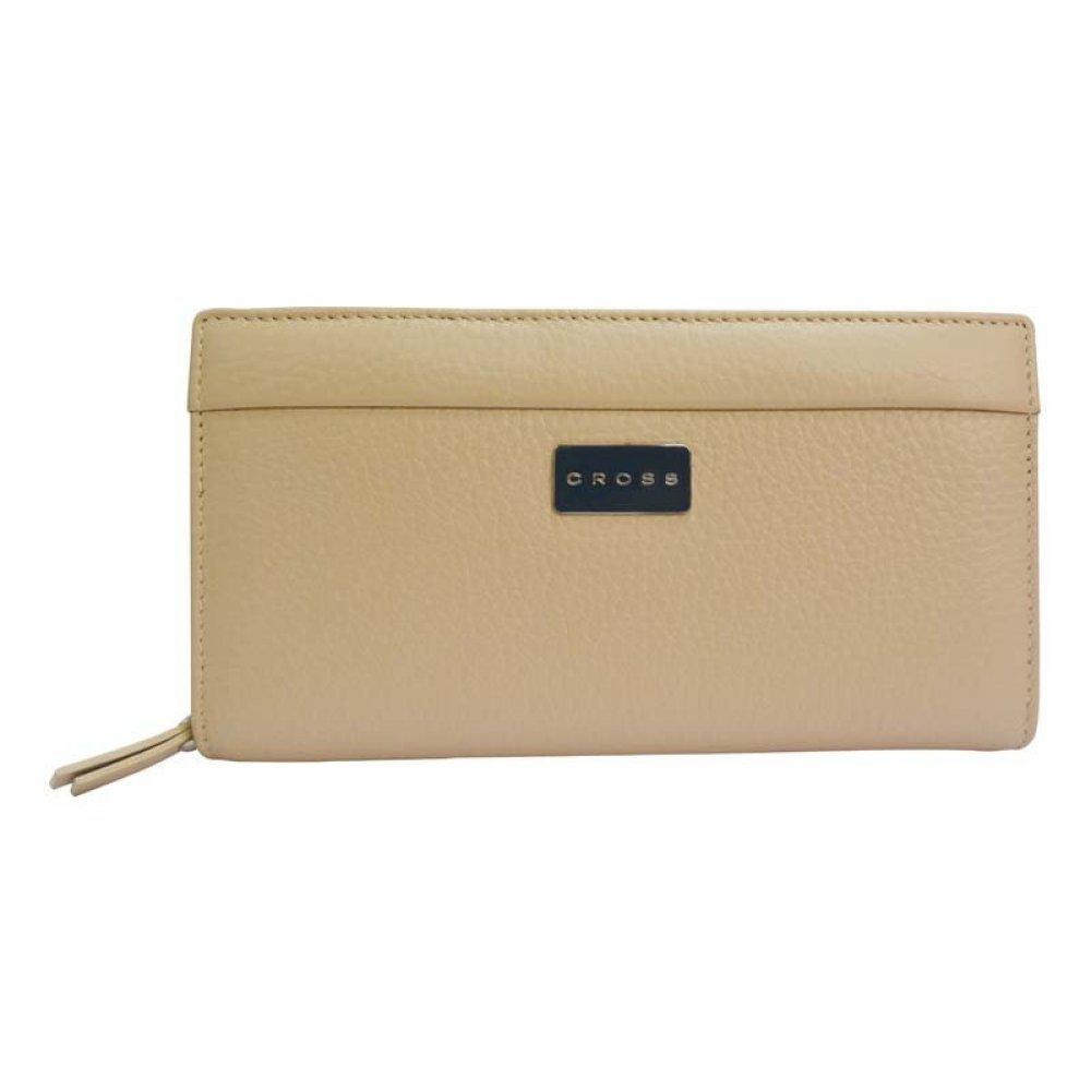 Клатч-кошелёк Cross Melody, кожа наппа тиснёная, цвет бежевый, 18 х 10 х 3 см AC638374-7