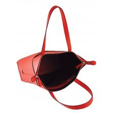Сумка наплечная женская, Cross Origami, кожа наппа гладкая+ткань, цвет красный, 38 х 32 х 13 см AC751302-3