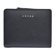 Кошелёк Cross RTC, кожа наппа тиснёная, цвет черный, 11.2 x 9.4 x 2 см AC778083N-1