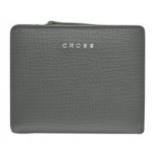 Кошелёк Cross RTC, кожа наппа тиснёная, цвет серый, 11.2 x 9.4 x 2 см AC778083N-18