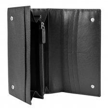 Кошелёк Cross RTC, кожа наппа тиснёная, цвет черный, 20 x 11 x 2.5 см