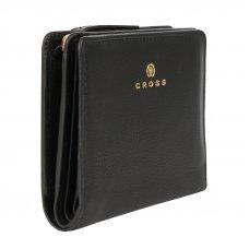 Кошелёк Cross Monaco Black, кожа наппа, гладкая, цвет чёрный, 11 x 9 x 2.5 см