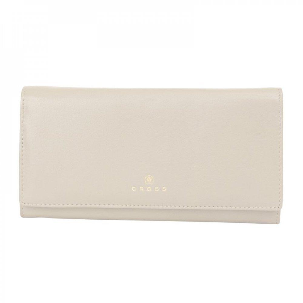 Кошелёк Cross Monaco Ivory, кожа наппа, гладкая, цвет слоновая кость, 20 x 11 x 2.5 см AC898288_1-16