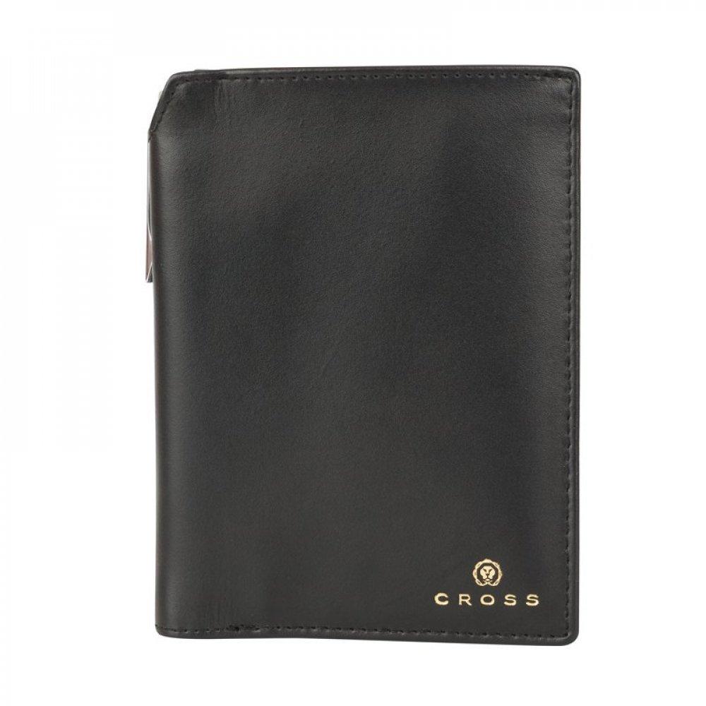 Бумажник для документов Cross Concordia Black, с ручкой Cross, кожа наппа, гладкая, черный ACC1494_2-1
