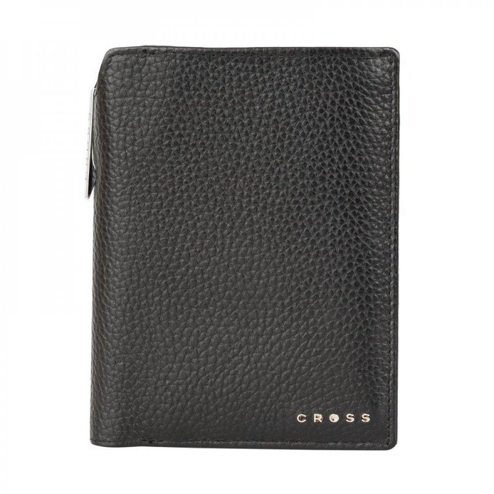 Бумажник для документов Cross Hudson Black, с ручкой Cross, кожа наппа, фактурная, черный ACC1495_2-1