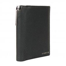 Бумажник для документов Cross Nueva Management Black, с ручкой Cross, кожа наппа, фактурная, черный ACC1497_2-1