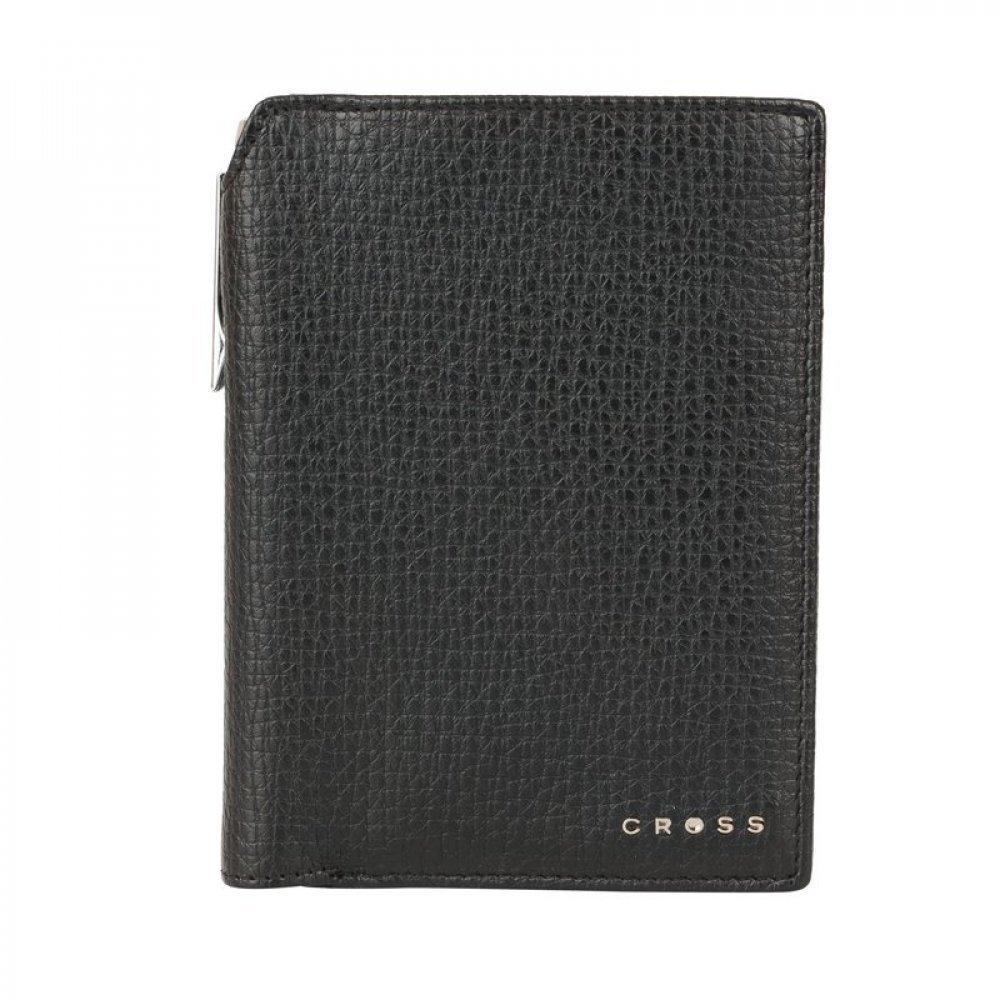 Бумажник для документов Cross RTC Black, с ручкой Cross, кожа наппа, тисненая, черный ACC1498_2-1