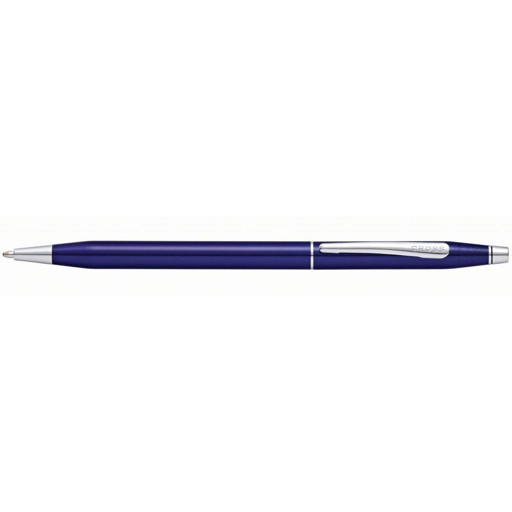 Шариковая ручка Cross Classic Century Translucent Blue Lacquer, цвет ярко-синий AT0082-112