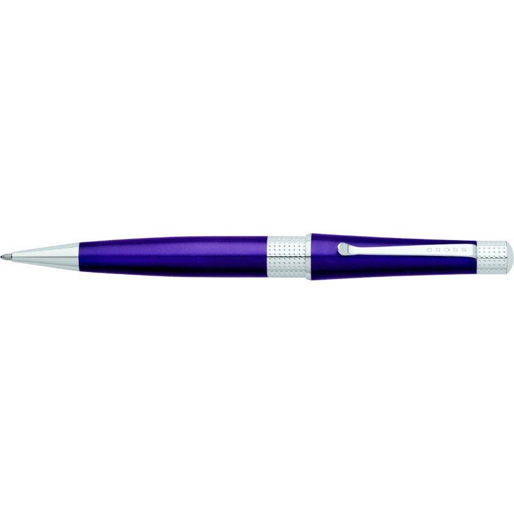 Шариковая ручка Cross Beverly. Цвет - фиолетовый. AT0492-7