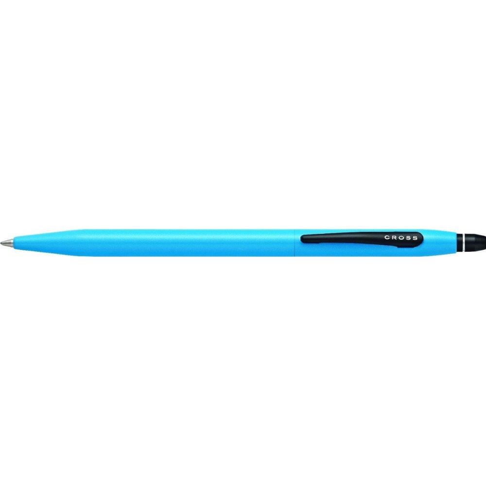 Ручка-роллер Cross Click без колпачка с тонким стержнем. Цвет - голубой. AT0625-14