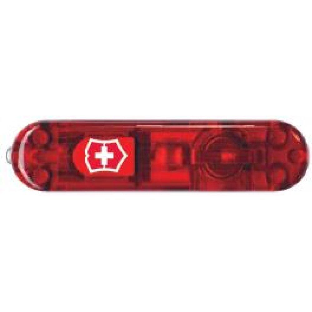 Передняя накладка для ножей VICTORINOX SwissLite 58 мм, пластиковая, полупрозрачная красная C.6200.T1