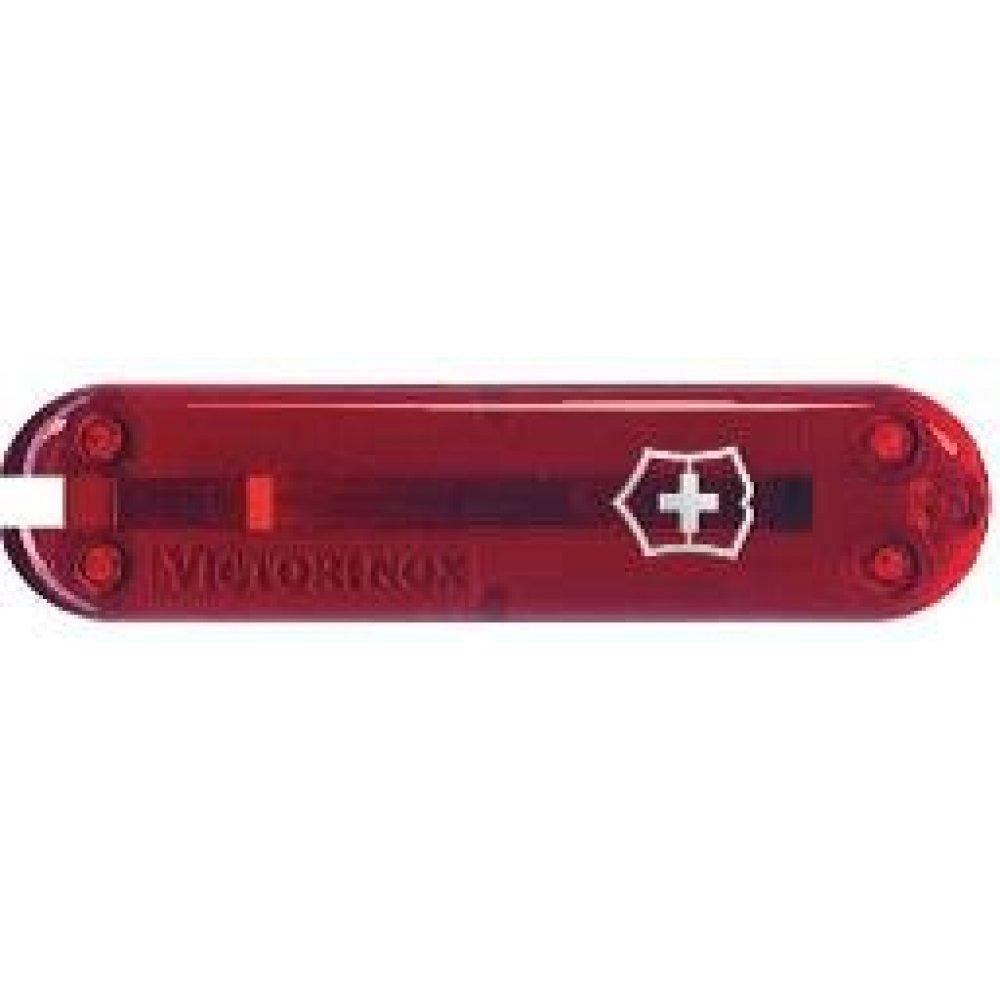 Передняя накладка для ножей VICTORINOX 58 мм, пластиковая, полупрозрачная красная C.6200.T3