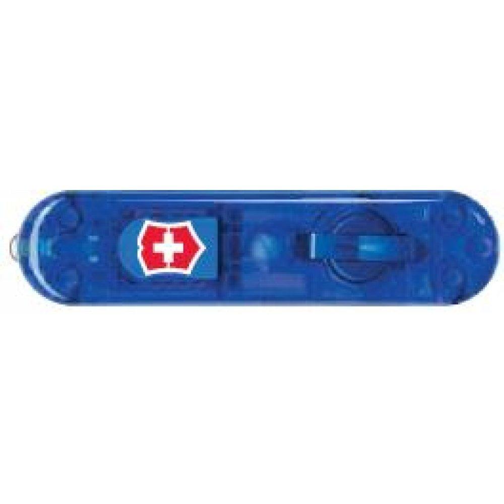 Передняя накладка для ножей VICTORINOX SwissLite 58 мм, пластиковая, полупрозрачная синяя C.6202.T1