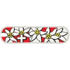 Задняя накладка для ножей VICTORINOX 58 мм, пластиковая, дизайн Edelweiss C.6484.4