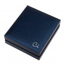 Портсигар Caseti, хромированная сталь, чёрный горизонтальный лак, 19.2*80*95 мм