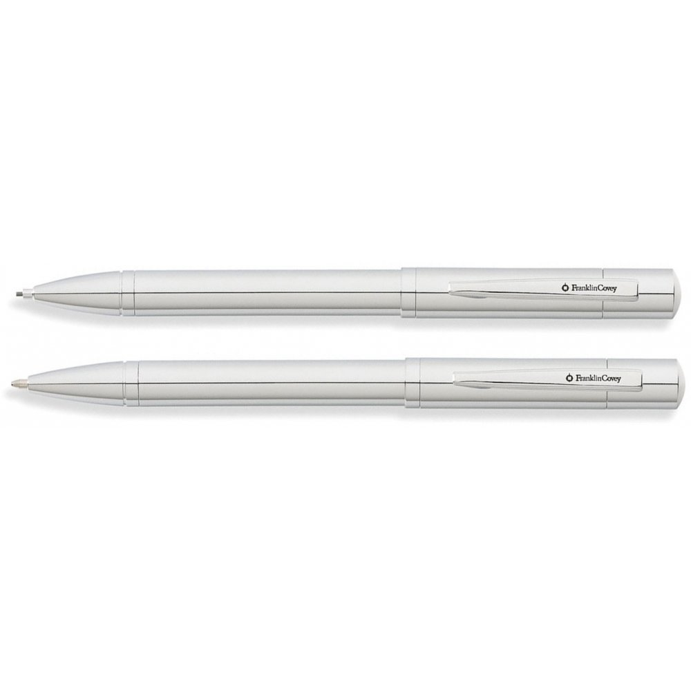 Набор FranklinCovey Greenwich: шариковая ручка и карандаш 0.9мм. Цвет - хромовый. FC0021-2