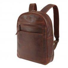 Рюкзак KLONDIKE DIGGER «Sade», натуральная кожа в темно-коричневом цвете, 34 x 40 x 9 см