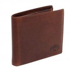 Бумажник KLONDIKE Dawson, натуральная кожа в коричневом цвете, 12.5 х 2.5 х 9.5 см