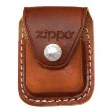 Чехол Zippo для зажигалки, кожа, с металлическим фиксатором на ремень, коричневый, 57х30x75 мм LPCB