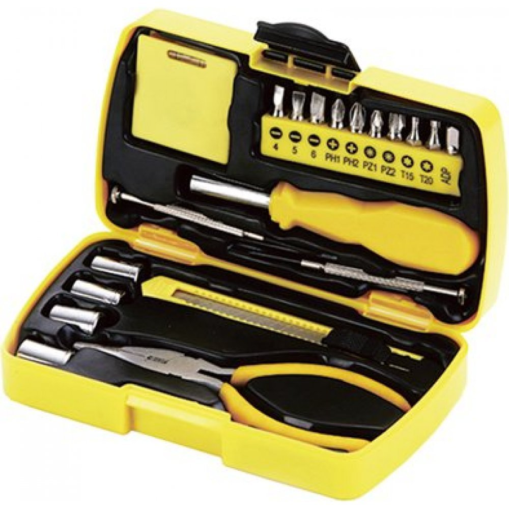 Набор инструментов Stinger, 20 инструментов, в пластиковом кейсе, 160х40x90 мм NST128020