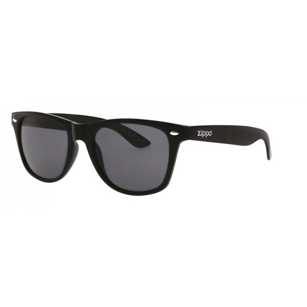 Очки солнцезащитные ZIPPO, чёрные, оправа, линзы и дужки из поликарбоната OB02-31