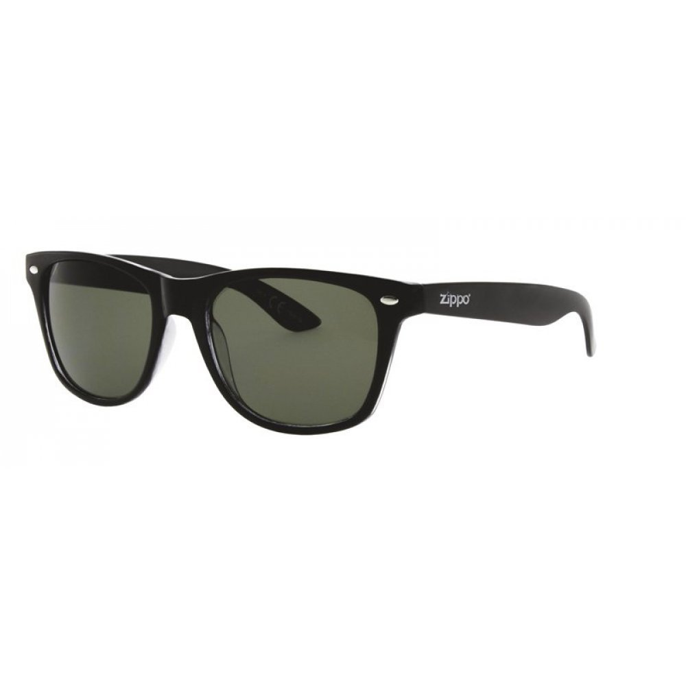 Очки солнцезащитные ZIPPO, чёрные, оправа, линзы и дужки из поликарбоната OB02-32