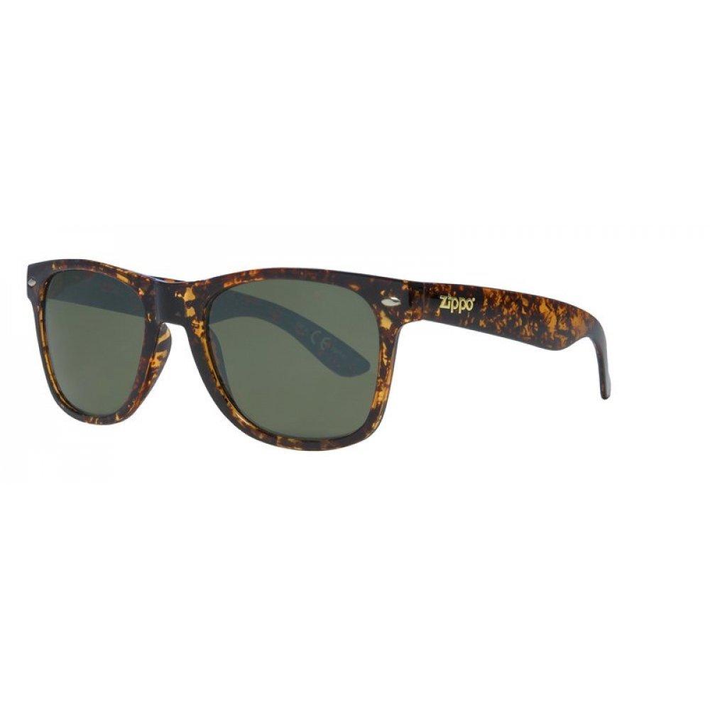 Очки солнцезащитные ZIPPO, коричневые, оправа и дужки из поликарбоната, поляризационные линзы TAC OB21-04