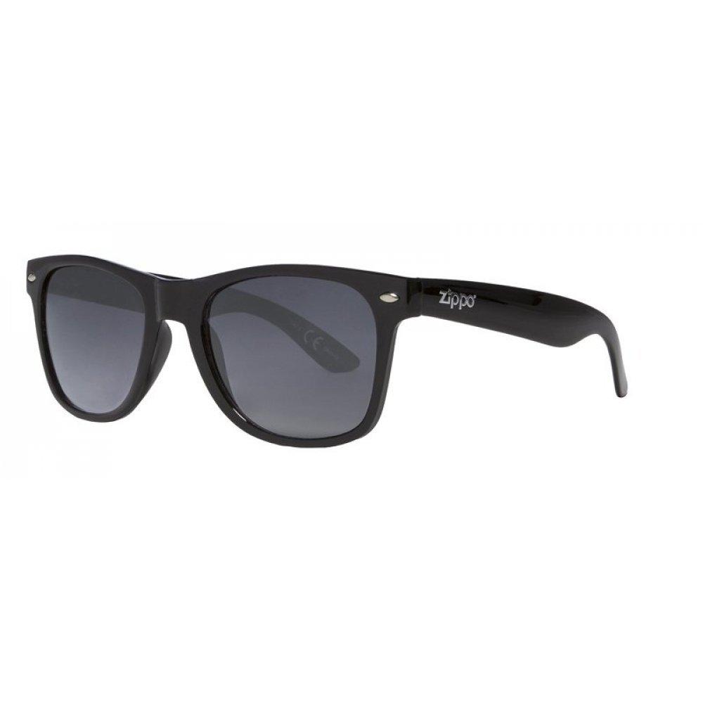 Очки солнцезащитные ZIPPO, чёрные, оправа и дужки из поликарбоната, поляризационные линзы TAC OB21-05