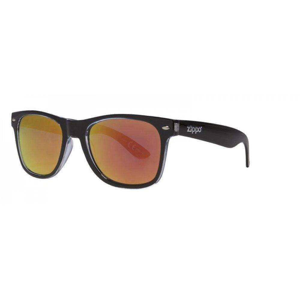 Очки солнцезащитные ZIPPO, чёрные, оправа, линзы и дужки из поликарбоната OB21-06