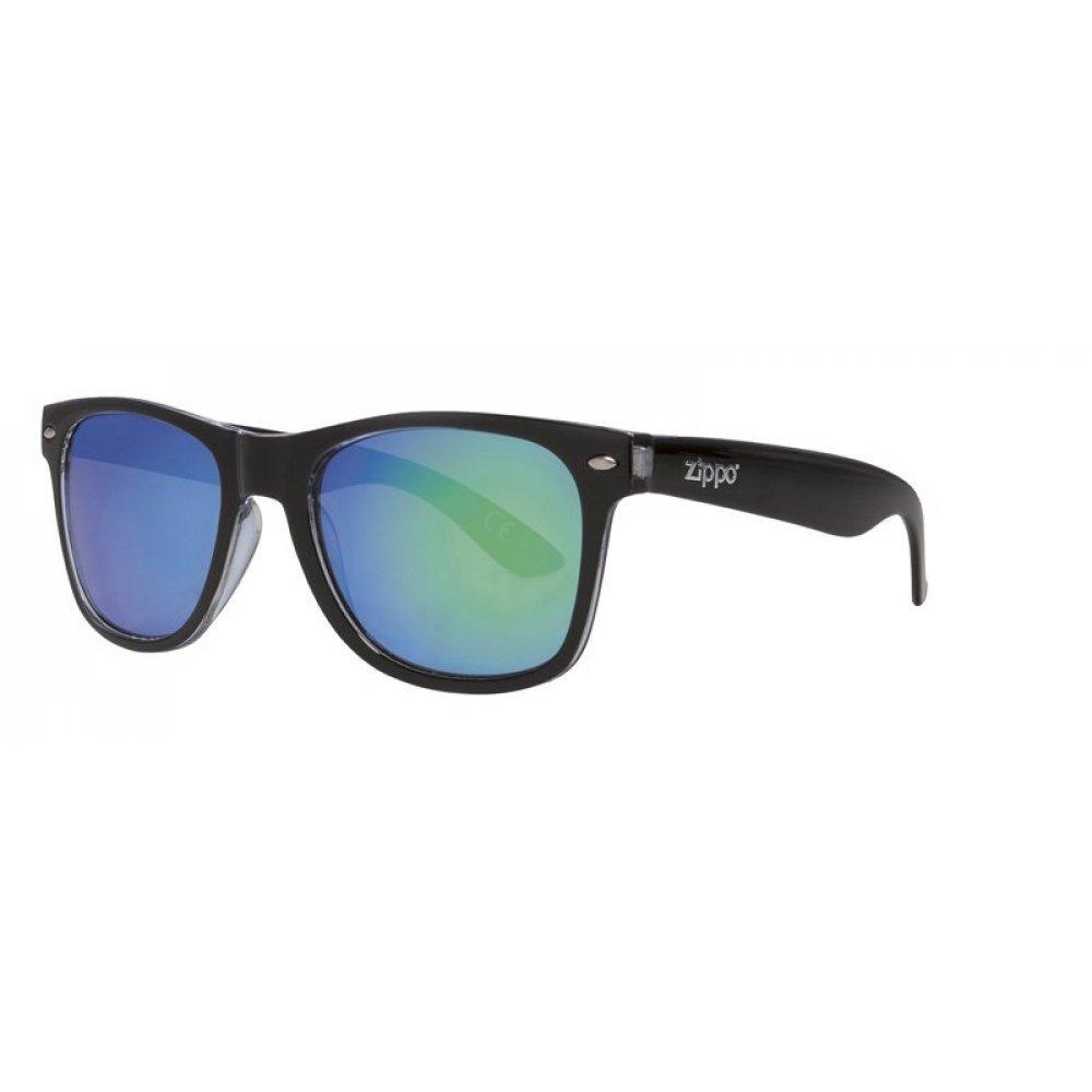 Очки солнцезащитные ZIPPO, чёрные, оправа, линзы и дужки из поликарбоната OB21-07