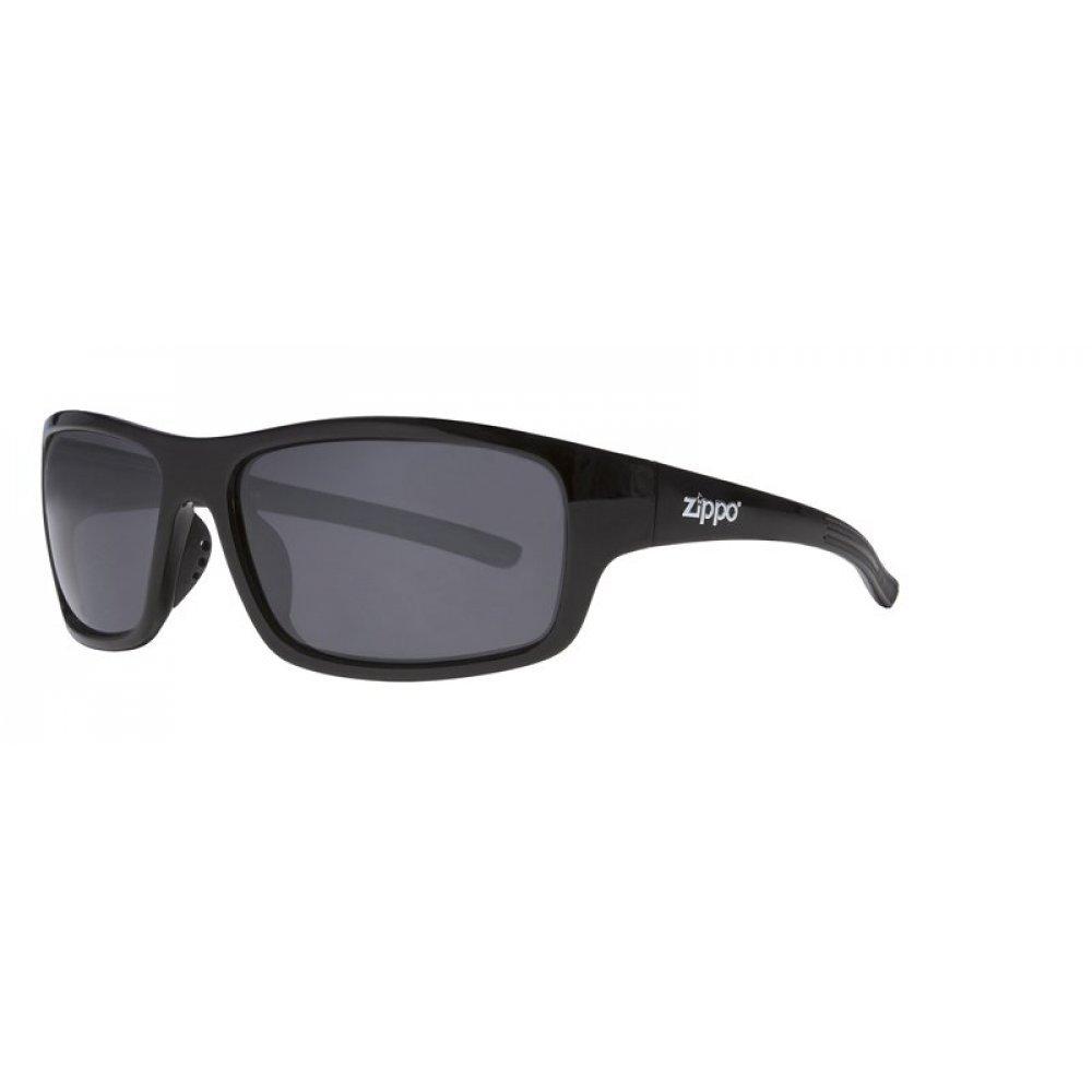 Очки солнцезащитные ZIPPO, чёрные, оправа и дужки из поликарбоната и термопластичного эластомера OB31-01
