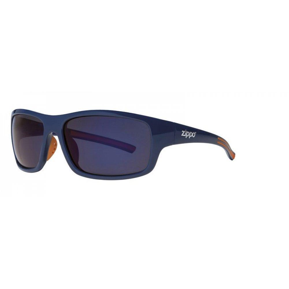Очки солнцезащитные ZIPPO, синие, оправа и дужки из поликарбоната и термопластичного эластомера OB31-02