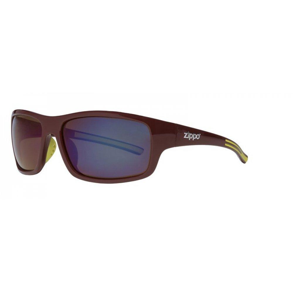 Очки солнцезащитные ZIPPO, коричневые, оправа и дужки из поликарбоната и термопластичного эластомера OB31-03