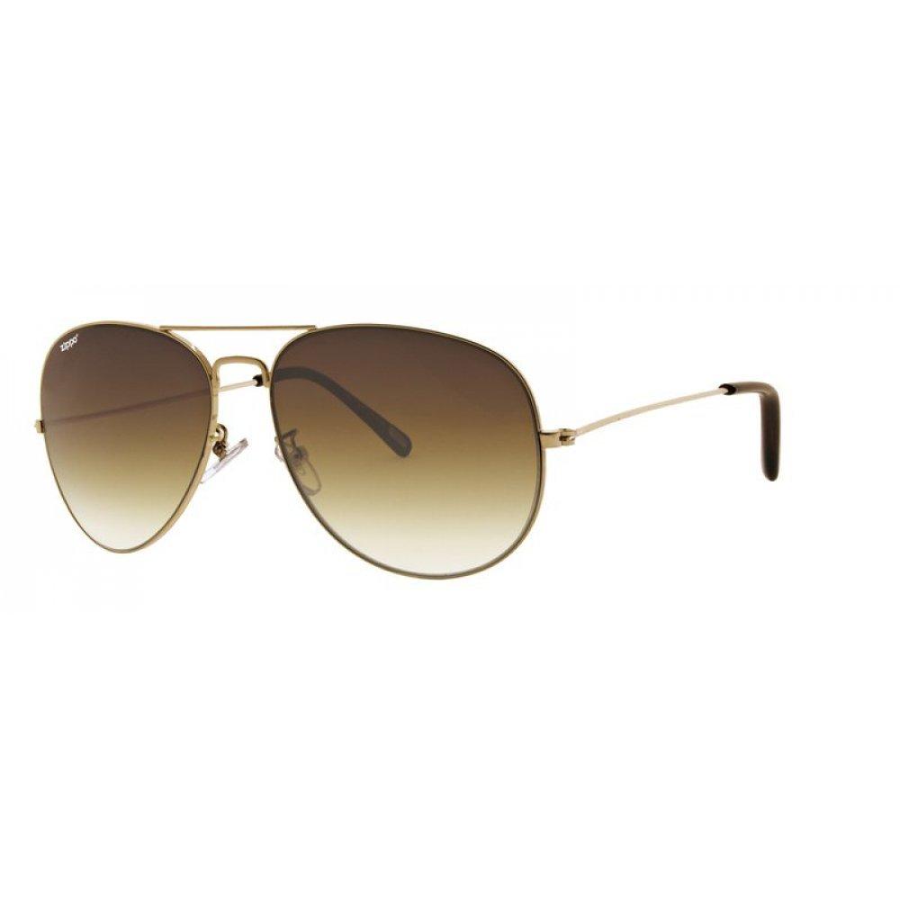 Очки солнцезащитные ZIPPO, золотистые, оправа из меди и пластика, линзы и дужки из поликарбоната OB36-02