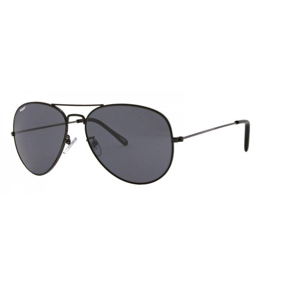 Очки солнцезащитные ZIPPO, чёрные, оправа из меди и пластика, линзы и дужки из поликарбоната OB36-03