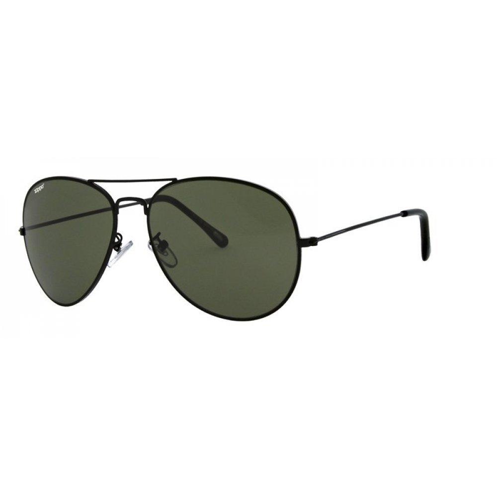Очки солнцезащитные ZIPPO, чёрные, оправа из меди и пластика, линзы и дужки из поликарбоната OB36-05