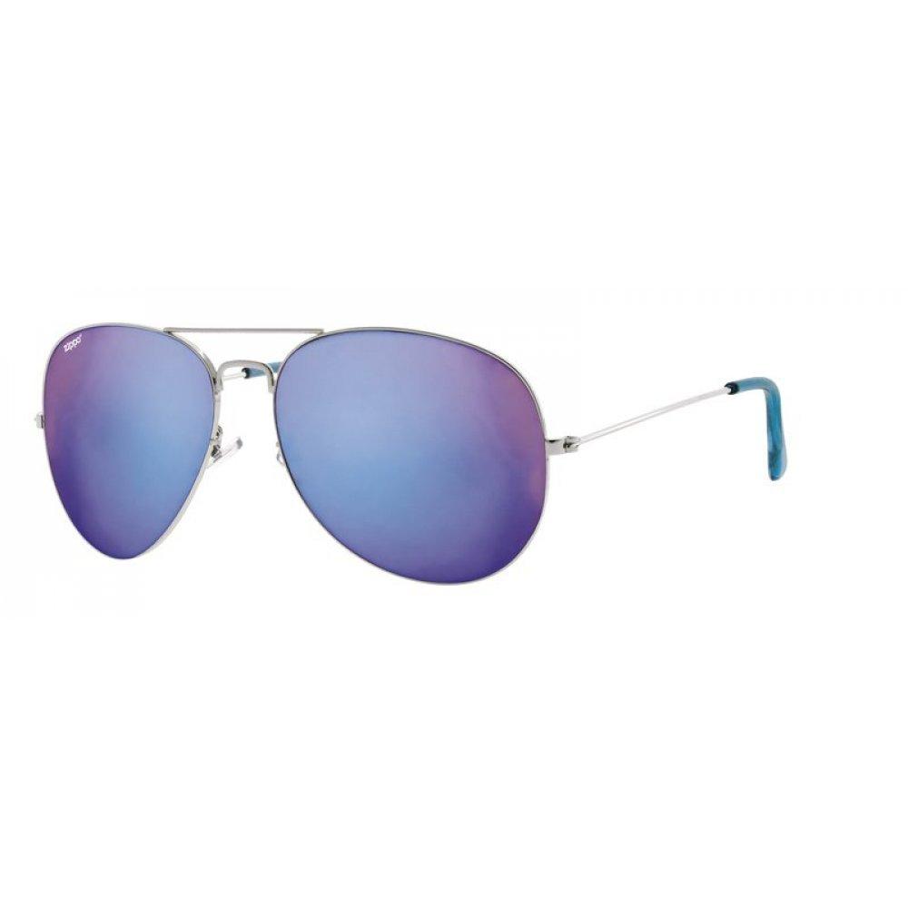 Очки солнцезащитные ZIPPO, серебристые, оправа из меди и пластика, линзы и дужки из поликарбоната OB36-06