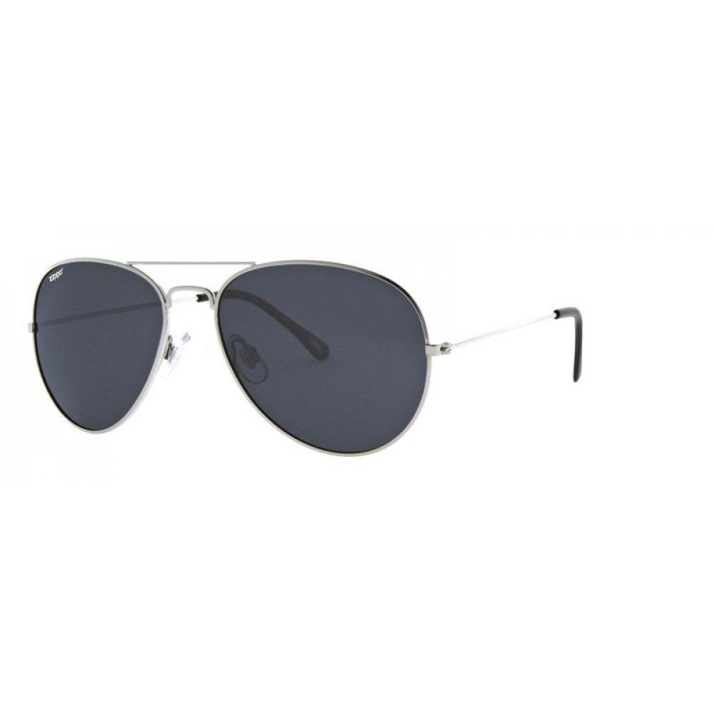 Очки солнцезащитные ZIPPO, серебристые, оправа из меди и пластика, линзы и дужки из поликарбоната OB36-09