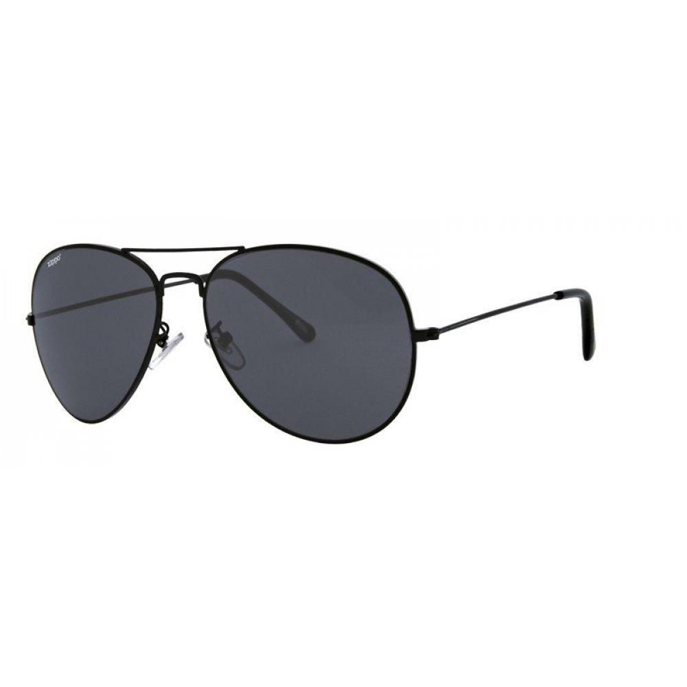 Очки солнцезащитные ZIPPO, унисекс, чёрные, оправа из меди и АБС-пластика, поляризационные линзы TAC OB36-10