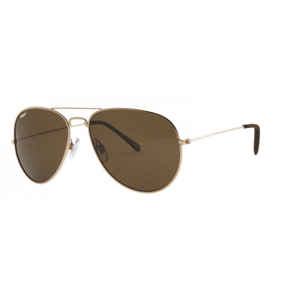 Очки солнцезащитные ZIPPO, унисекс, золотистые, оправа из меди и АБС-пластика, поляризационные линзы OB36-11