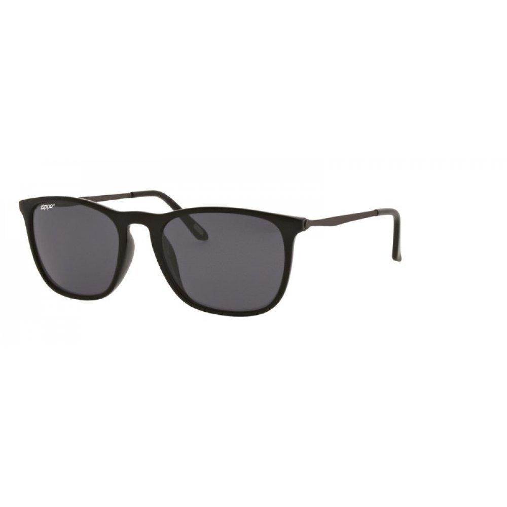Очки солнцезащитные ZIPPO, чёрные, оправа и линзы из поликарбоната, дужки из меди и поликарбоната OB40-01