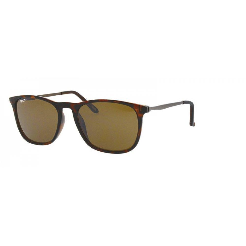 Очки солнцезащитные ZIPPO, коричнево-чёрные, поликарбонат/медь OB40-03