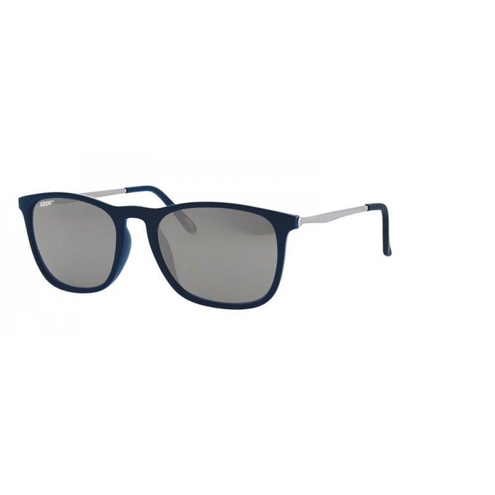 Очки солнцезащитные ZIPPO, синие, оправа и линзы из поликарбоната, дужки из меди и поликарбоната OB40-05